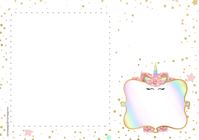 Convite Festa Unicornio Gratis 3