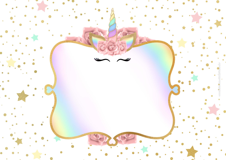 Convite Festa Unicornio Gratis 4