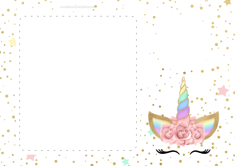 Convite Unicornio Gratis 6