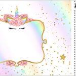 Convite Ingresso Unicornio Colorido Kit Festa