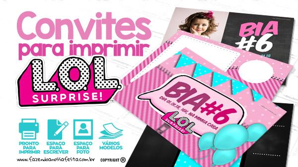 Convite LOL Surprise Gratis para Imprimir