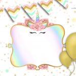 Convite Unicornio Gratis 5