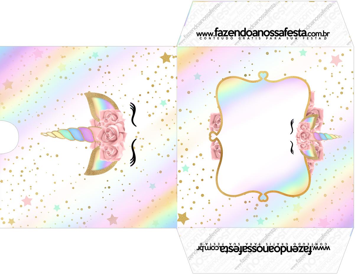 Envelope CD DVD Unicornio Colorido