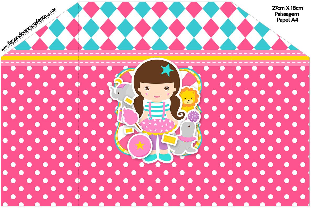 Envelope Convite Circo Menina