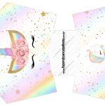 Envelope Fritas Unicornio Colorido