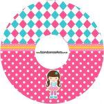 Etiqueta CD DVD Circo Menina