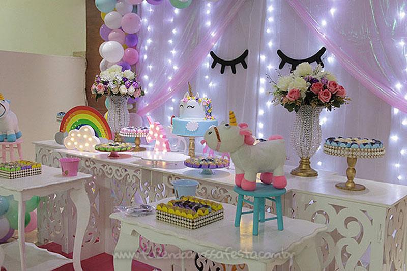Festa Unicórnio da Ana Elisa -> Decoracao De Unicornio Infantil