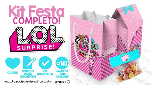 8ac57498c LOL Surprise Kit Festa Grátis para Baixar e Imprimir em Casa