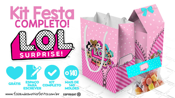 LOL Surprise Kit Festa Gratis