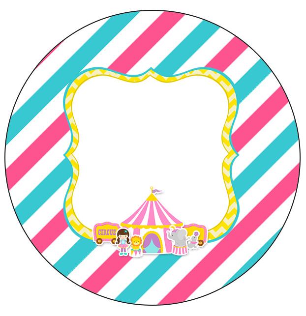 Molde para Latinha Circo Menina Kit Festa