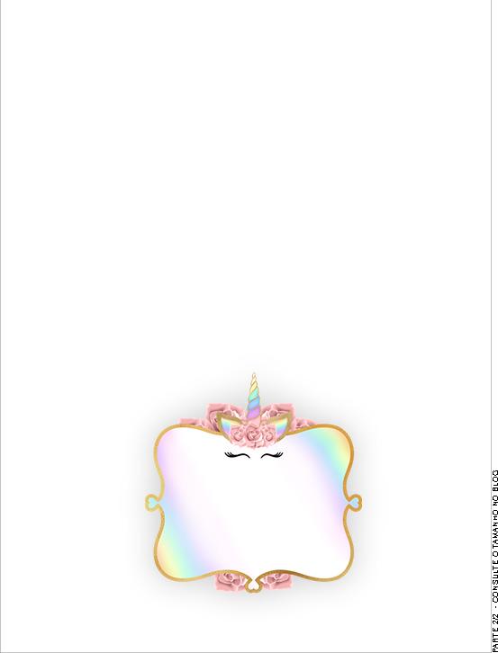 Passaporte Interno Unicornio Colorido