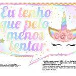Plaquinhas Festa Unicornio Gratis 12