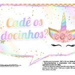Plaquinhas Festa Unicornio Gratis 14