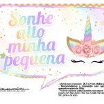 Plaquinhas Festa Unicornio Gratis 17