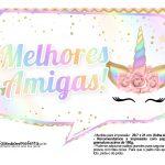 Plaquinhas Festa Unicornio Gratis 18