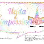 Plaquinhas Festa Unicornio Gratis 26
