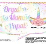 Plaquinhas Festa Unicornio Gratis 32