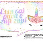 Plaquinhas Festa Unicornio Gratis 34