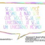 Plaquinhas Unicornio Gratis 4