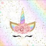 Quebra cabeca Unicornio Colorido Kit Festa