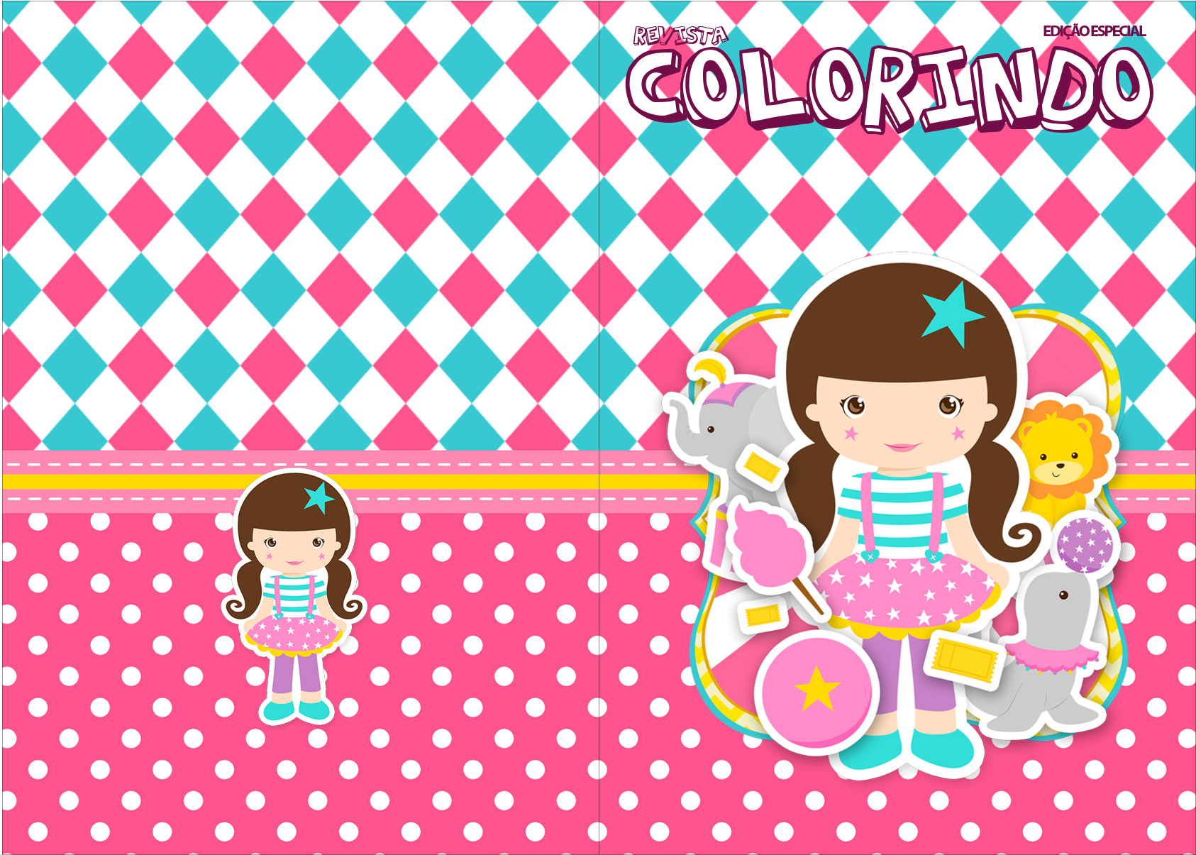 Revista Colorindo Circo Menina