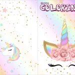 Revista Colorindo Unicornio Colorido