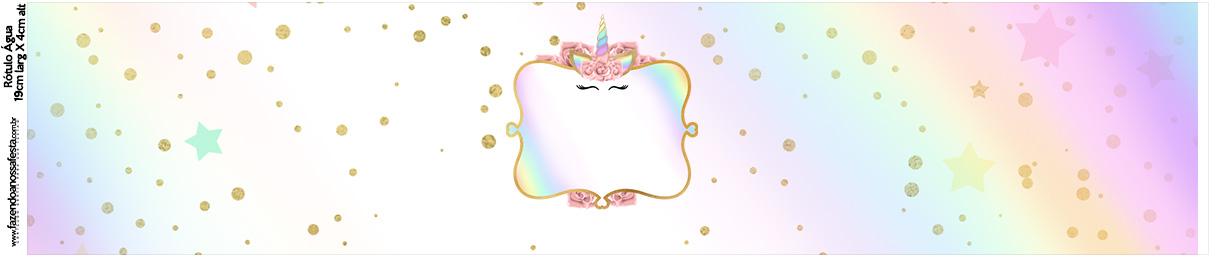 Rotulo Agua Unicornio Colorido