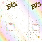 Rotulo Bis Unicornio Colorido