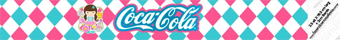 Rotulo Coca cola Circo Menina