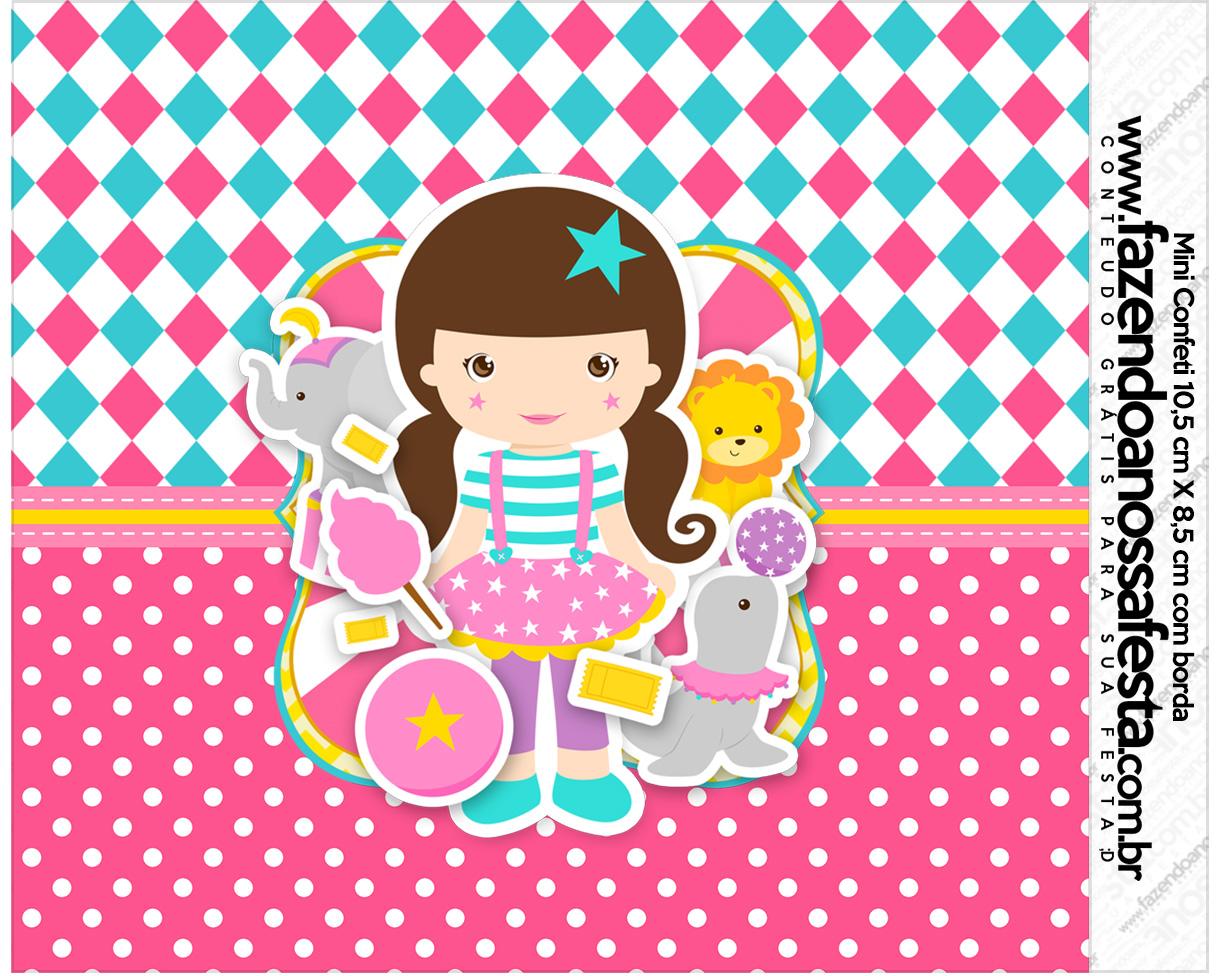 Rotulo Mini Confeti Circo Menina