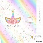 Sacolinha Surpresa 2 2 Unicornio Colorido Kit Festa