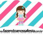 Saias Wrappers para Cupcakes 2 Circo Menina Kit Festa