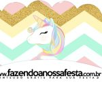 Saias Wrappers para Cupcakes 2 Unicornio Colorido Kit Festa