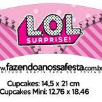 Saias Wrappers para Cupcakes LOL Surprise