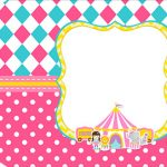 Tag Agradecimento Etiqueta Circo Menina Kit Festa