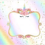 Tampa Marmitinha 500g Unicornio Colorido Kit Festa