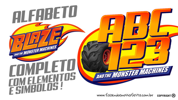 Alfabeto Blaze and Monster Machines