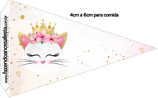 Bandeirinha Sanduiche 1 Gatinho Kit Festa