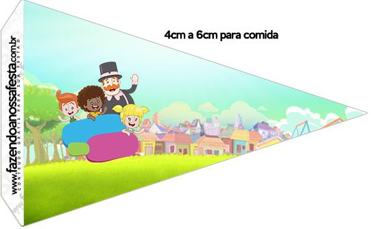 Bandeirinha Sanduiche 1 Mundo Bita Kit Festa