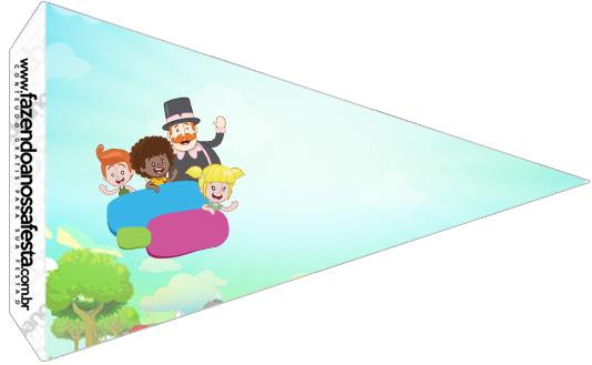 Bandeirinha Sanduiche 2 Mundo Bita Kit Festa