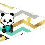 Bandeirinha Sanduiche 3 Panda Menino