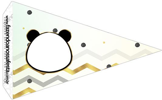 Bandeirinha Sanduiche 5 Panda Menino