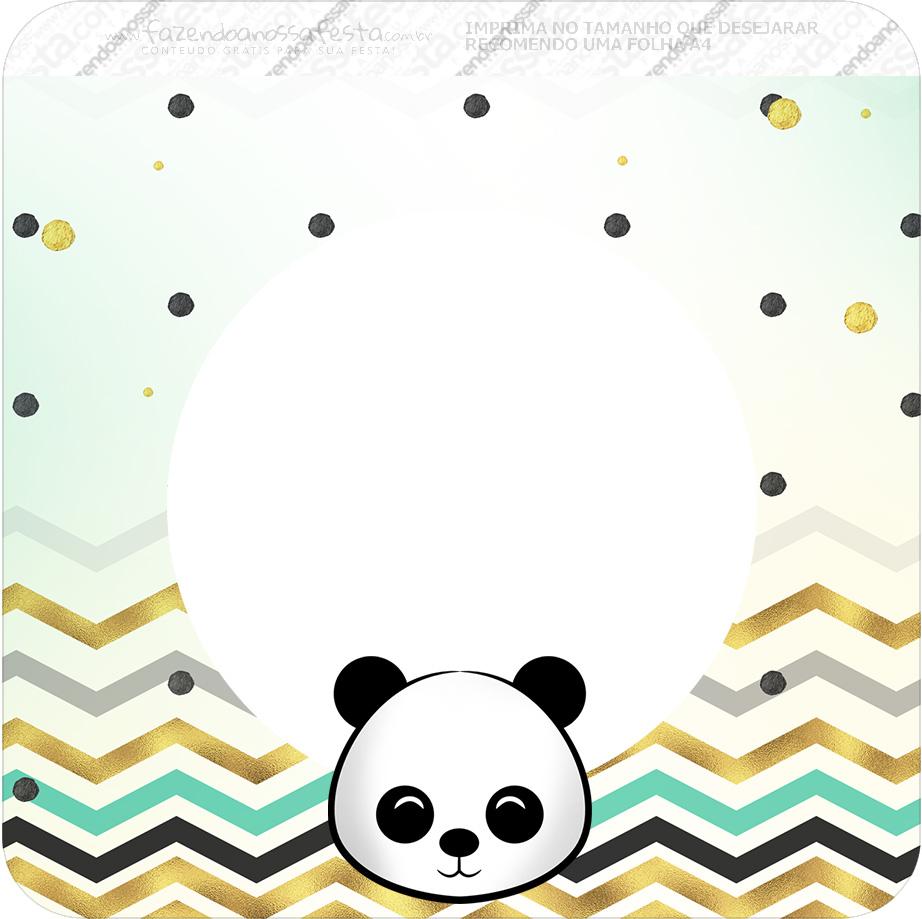Bandeirinha Varalzinho Quadrada Panda Menino