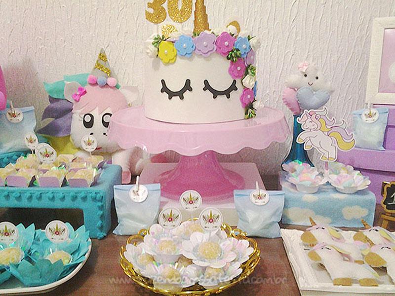 Bolo Festa Unicornio da Amanda