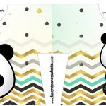 Caixa Camisa Panda Menino kit festa
