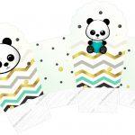 Caixa Cupcake Panda Menino