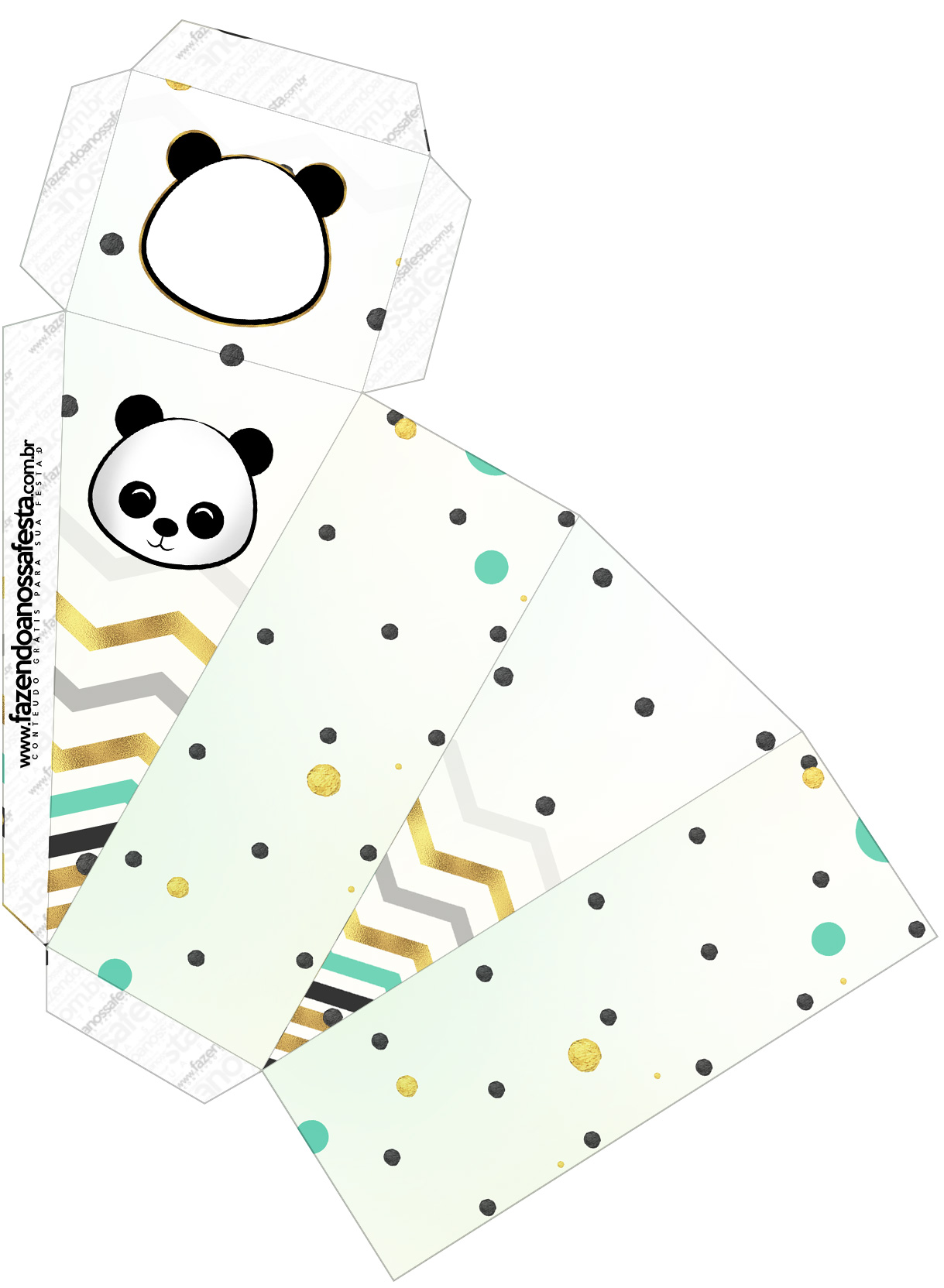 Caixa Fatia Panda Menino