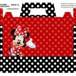 Caixa Maleta para Pascoa Minnie Vermelha 01