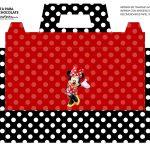 Caixa Maleta para Pascoa Minnie Vermelha 02