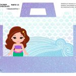 Caixa Maleta para Pascoa Sereia Cute 01